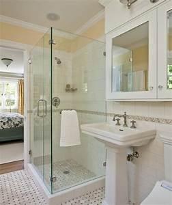 Awesome salle de bain retro avec douche images amazing for Porte de douche coulissante avec salle de bain retro vintage