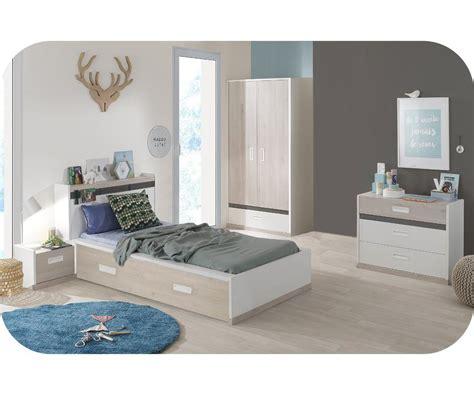 chambre blanche et bois chambre enfant iléo blanche et bois set de 5 meubles