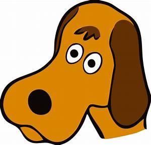 Cartoon Dog Face clipart