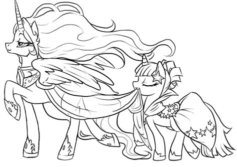 Celestia Free Colouring Pages