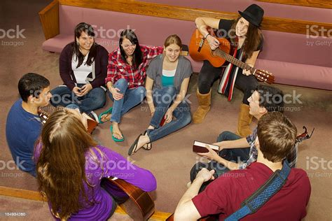 Happy Church Youth Group Stock Photo - Download Image Now ...