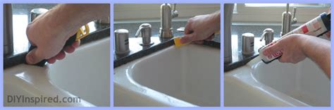what kind of caulk for kitchen sink how to caulk your sink diy inspired