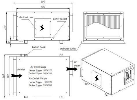 deshumidificateur chambre dxf 1200 pipeline de plafond monté déshumidificateur 158l