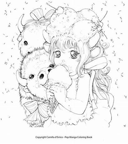 Coloring Aesthetic Manga Printable Camilla Coloriage Pop