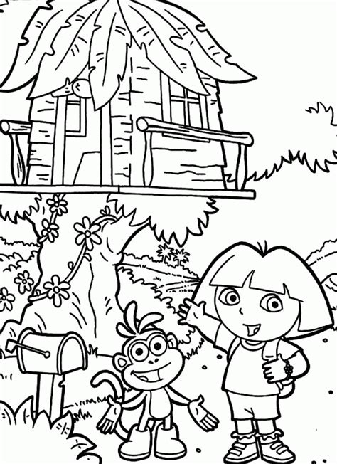 tree house coloring pages coloring home