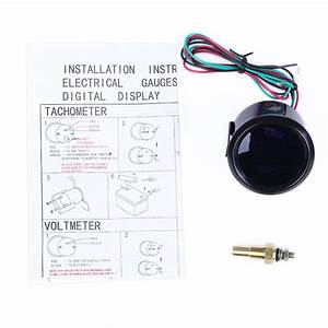 Black Hotsystem 2 U0026quot  52mm Digital Led Fahrenheit Water Temp