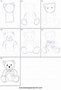 How to Draw a Teddy Bear printable step by step drawing ...