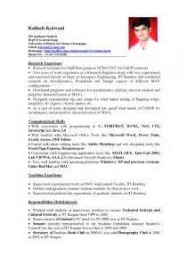 exles of resumes standard format resume in canada