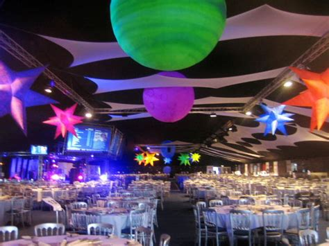 Space Theme Uv Decor For Events