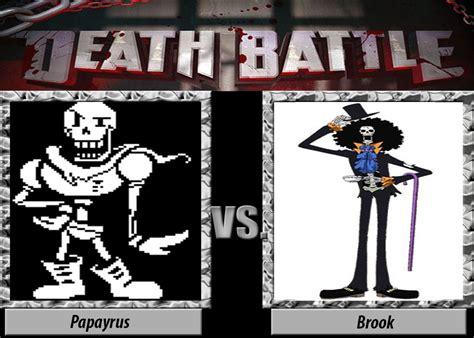 death battle papyrus  brook  jss  deviantart