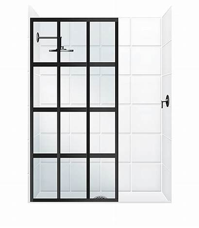 Shower Doors Panel Fixed Coastal Glass Window