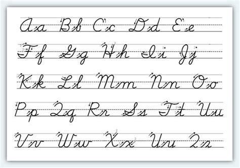 Cursive Alphabet  Dr Odd