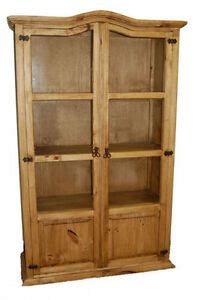 Curio Bookcase by Curio Wood Bookcase With Glass Front Doors Real Wood 4