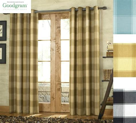 Plaid Drapery Panels by Country Style Shelton Grommet Tailored Plaid Curtain