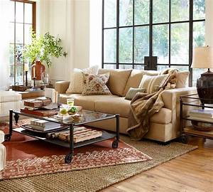 Pottery barn living room to nest living rooms pinterest for Pottery barn living room images