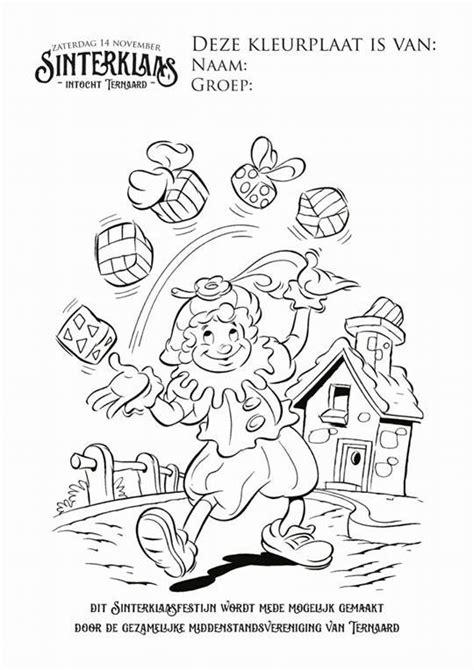 Kleurplaat Sinterklaas Komt Op Bezoke by Sinterklaas Komt In Ternaard T E R N A A R D