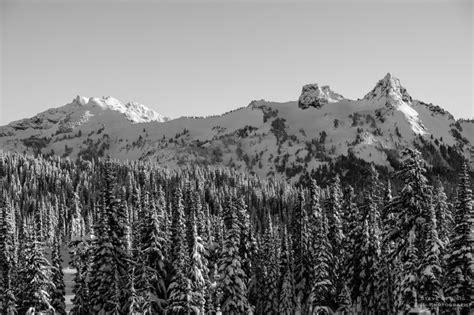 Snow Covered Tatoosh Range, Paradise, Mount Rainier ...