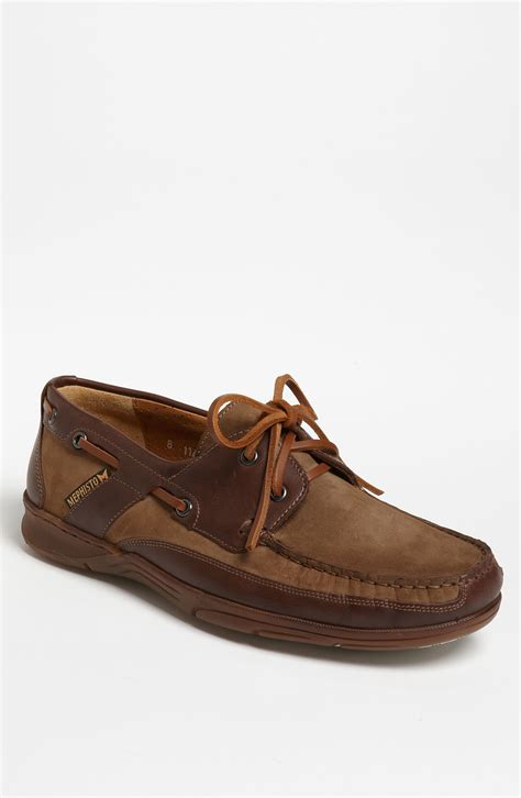 Mephisto Boat Shoes by Mephisto Felix Boat Shoe In Brown For Camel Nubuck