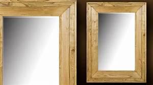 Miroir Cadre Bois : miroir cadre bois id es de d coration int rieure french decor ~ Teatrodelosmanantiales.com Idées de Décoration