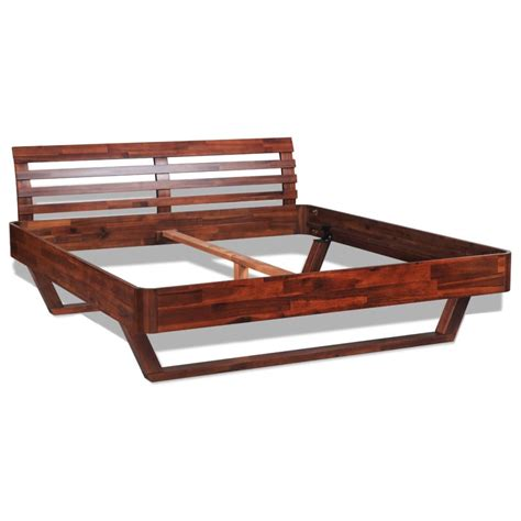 Bed Frame For Size Bed by Vidaxl Solid Acacia Wood Bed Frame Size Vidaxl