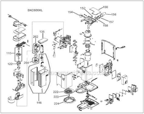 Breville BKC600XL Parts List and Diagram : eReplacementParts.com