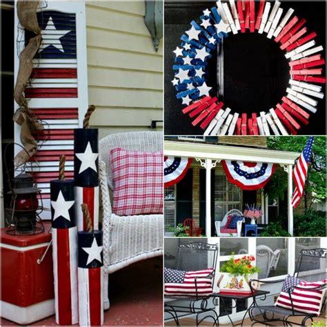 July Front Porch Ideas Patriotic