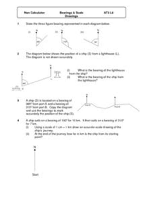 Bearings And Scale Drawings 6th  8th Grade Worksheet  Lesson Planet