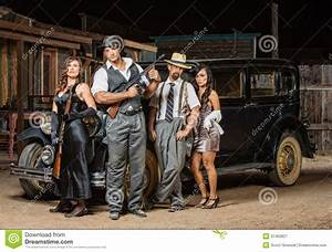 Four Gangsters Posing Royalty Free Stock Photography ...