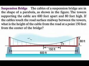 Trig and Suspension Bridge with parabolas - YouTube