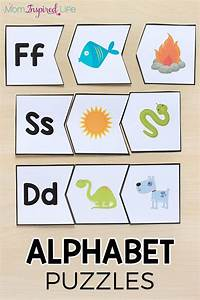 beginning sounds alphabet puzzles With letter puzzles for preschool