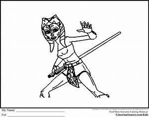 Star Wars Coloring Pages Ahsoka Tano Coloring Pages