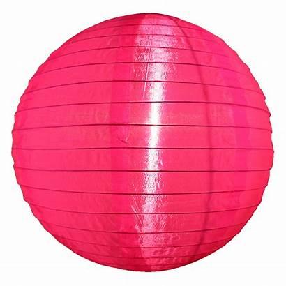Pink Lanterns Neon Outdoor Nylon Round Lantern