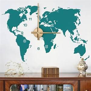 Wandtattoo Weltkarte Uhr : wandtattoo uhr weltkarte ~ Sanjose-hotels-ca.com Haus und Dekorationen