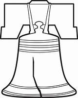 Liberty Bell Coloring Bells Drawing Outline Printable Clipart Clip Worksheets Pennsylvania Sheets Transparent Kindergarten Clipartmag Pluspng sketch template