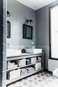 Implantation Salle De Bain : id e d coration salle de bain sur un meuble en bois ~ Dailycaller-alerts.com Idées de Décoration