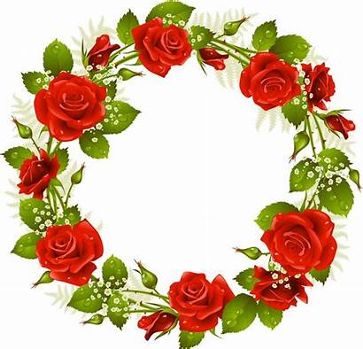 Clipart Flower Wreath Rose Circle Ros Sprung