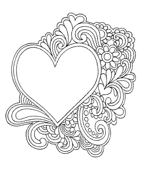 coloring pages  hearts  flowers activity shelter