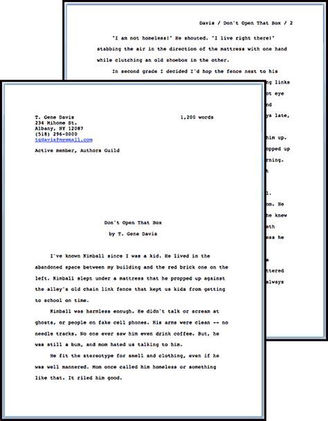 Manuscript Template by Standard Manuscript Format T Gene Davis S Speculative