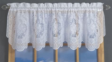 lace tailored valance thecurtainshop