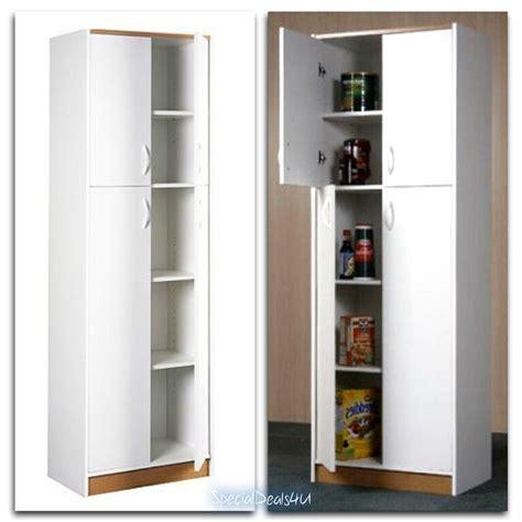 Pantry Storage Cupboard by Kitchen Pantry Storage Cabinet 4 Door Wood Organizer