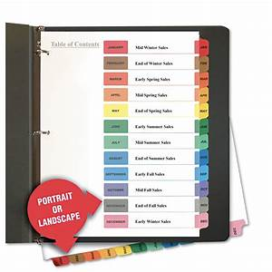 table of contents dividers by universalr unv24810 With letter tabs
