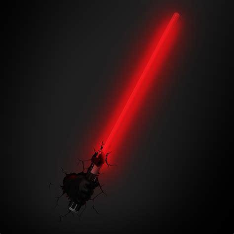 star wars darth vaders lightsaber  led wall light