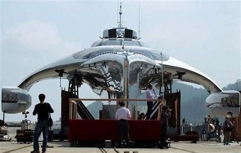 Trimaran James Bond by Futuristic Yacht Adasta Luxury Trimaran Watercraft