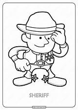 Sheriff Coloring Printable Pdf Coloringoo Tweet Whatsapp Characters sketch template