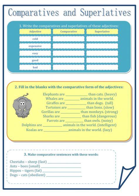 Comparatives And Superlatives  Interactive Worksheet