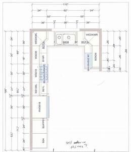 U, Shaped, Kitchen, Floor, Plans
