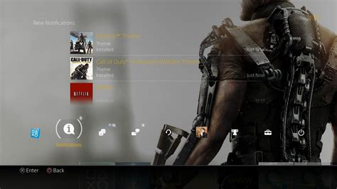 ps4 2 0 free destiny and call of duty advanced warfare themes now available for updated