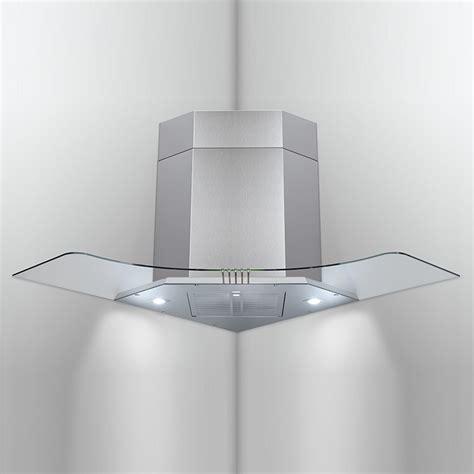 hotte de cuisine filtre charbon hotte d 39 angle f34 tc led