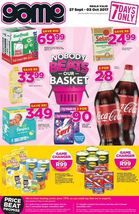 game grocery specials  sep   oct  black