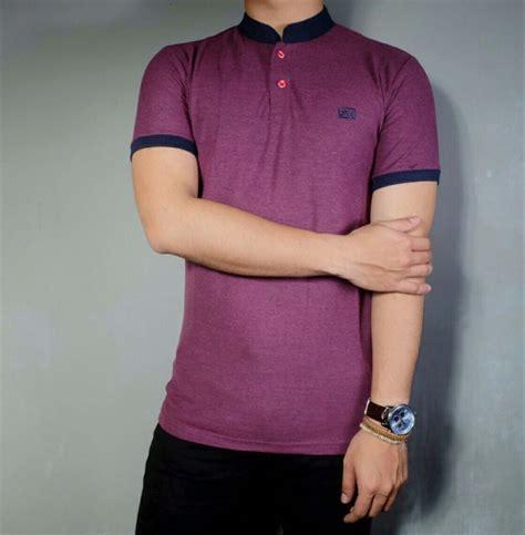 Kaos Baju 420 1 jual baju pria kaos pria lengan pendek polos ungu polo